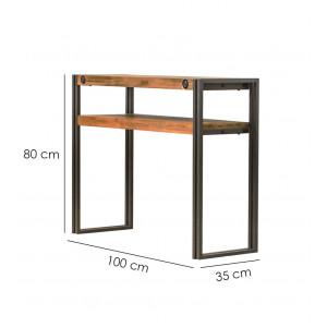 Console d'appoint style loft 100 cm - WORKSHOP