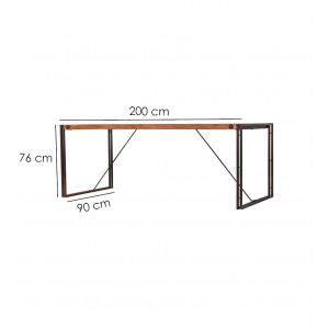 Table fixe bois & acacia 200 x 90 – WORKSHOP