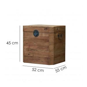 Coffre cube  en pin recyclé - style esprit montagne rustique - CHALET
