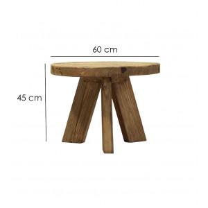 Table basse ronde 60 cm  - CHALET