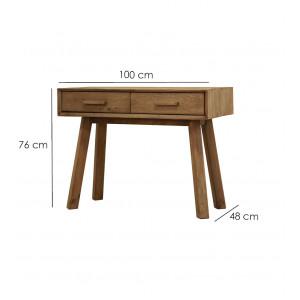 Console en bois 2 tiroirs - CHALET