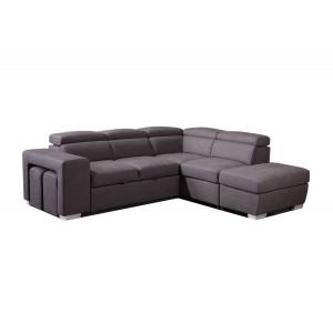 Canapé d'angle convertible droit taupe - VEGAS