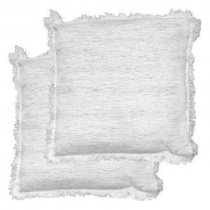 Lot de 2 coussins à franges en coton naturel 40 x 40 cm - YAKARI 3709