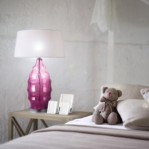 Lampe à poser en verre original violet - ARTY