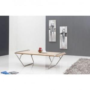 Maty - Table basse frêne/métal
