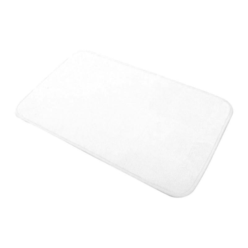 tapis douceur de bain 45x75cm blanc. Black Bedroom Furniture Sets. Home Design Ideas