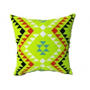 Coussin motif tribal vert...