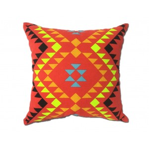 Coussin TRIBE motif tribal rouge 45*45