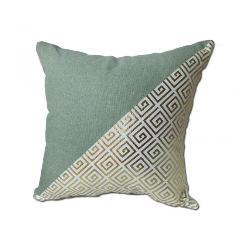 coussin modern vert et dor coussin. Black Bedroom Furniture Sets. Home Design Ideas