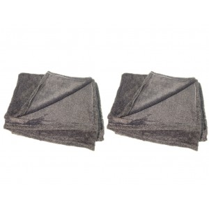 Lot de 2 plaids ALASKA gris clair