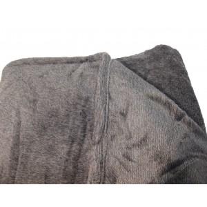 Lot de 2 plaids ALASKA gris clair