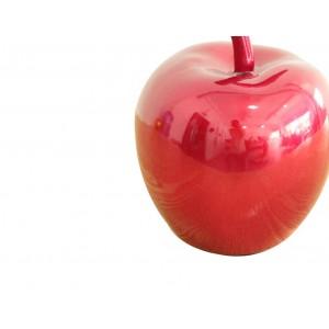 Pomme rouge laquée - fruit déco