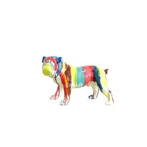 CHIEN Carlin multicolore