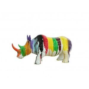 Sculpture Rhinocéros corne...
