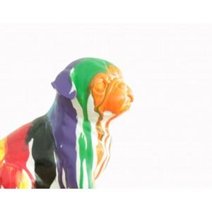 statue petit chien assis carlin multicolore objet de d coration meubletmoi. Black Bedroom Furniture Sets. Home Design Ideas