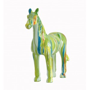 Cheval de décoration vert