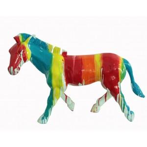 Zèbre statue multicolore