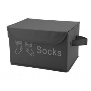 Boite pour dressing à couvercle Socks gris - SPACE