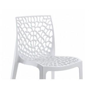 GRUYER Lot 4 chaises design ajourées empilables