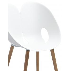NADEGE Lot 4 chaises modernes et design Blanc