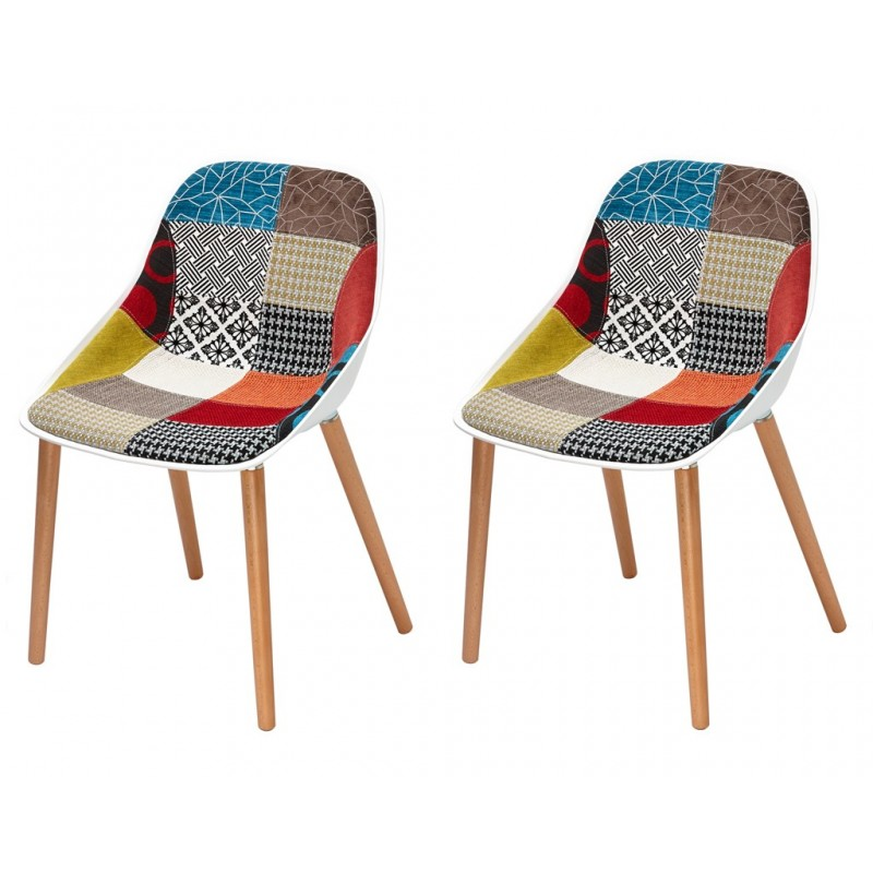 Lot 2 chaises patchwork by emilio polo barbara for Chaise patchwork