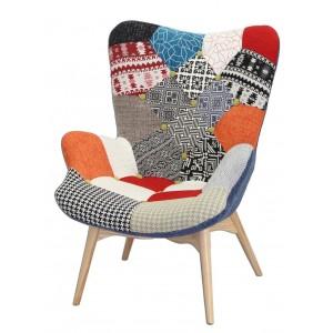 DARLING Le fauteuil déco tapissé patchwork