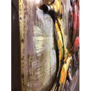 tableau m tallique relief 3d vespa toile cadre. Black Bedroom Furniture Sets. Home Design Ideas