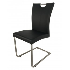 Lot 2 chaise design en simili cuir - Sophie