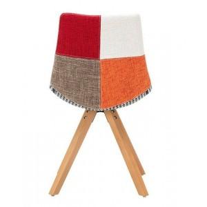 Lot 2 chaises tissue pied hêtre - MONROE