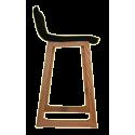 Lot 2 tabourets de bar bois et tissu noir – CAB