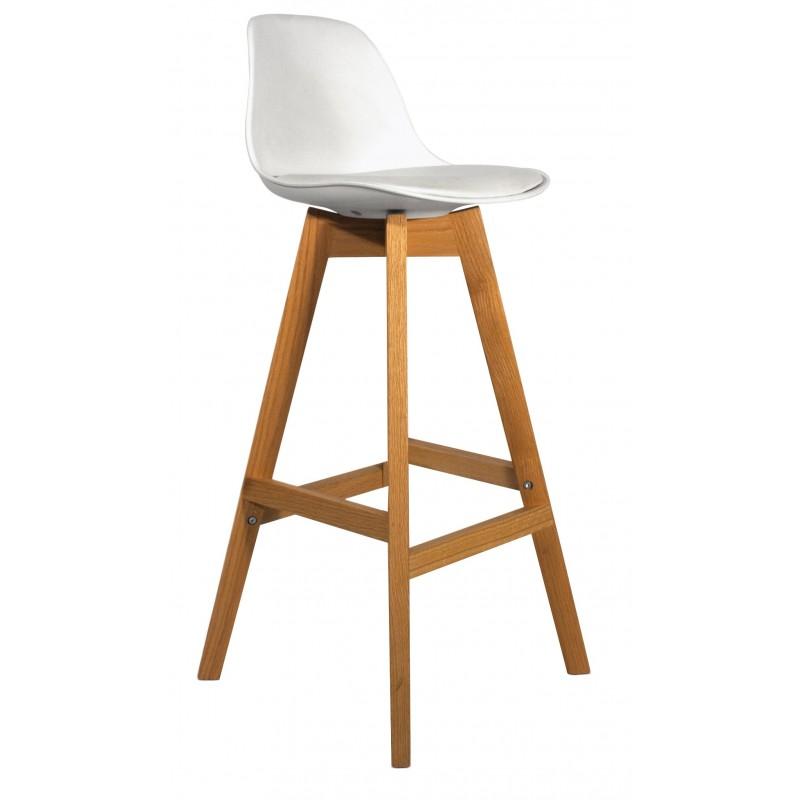 lot 2 tabourets de bar pi tement ch ne mel tabouret de bar. Black Bedroom Furniture Sets. Home Design Ideas