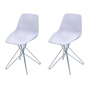 ZAPPO Lot 2 chaises design contemporain