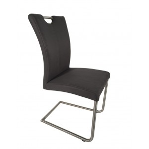 Lot 2 chaise design aspect daim - Sophie