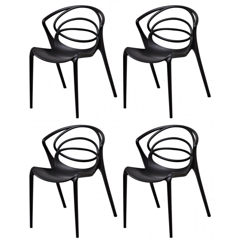 MIA Lot 4 chaises Design inspiration Master Kartell