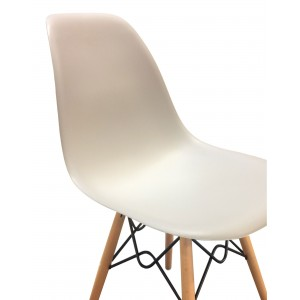 Lot 4 chaises design confort Black&White - RETRO