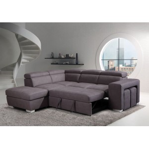 Canapé d'angle convertible gauche taupe - AUSTIN