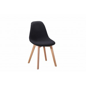 Chaise en tissu chiné Gris foncé - SANDY
