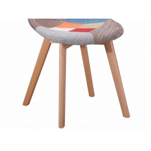 Chaise en tissu chiné Patchwork - SANDY assise