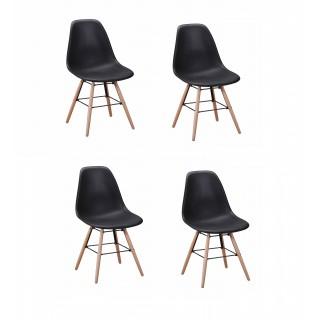 Dundee Design Scandinave 4 Noir Chaises Lot 9WIDEH2