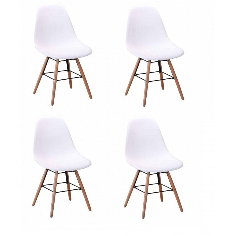 Chaises design chaise lot de chaise lot de chaises design for Chaise design dsw blanche blanc
