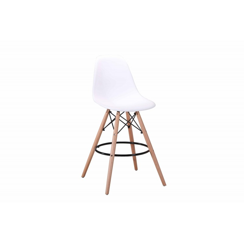 Lot 2 Tabourets De Bar Scandinave Blanc Tower