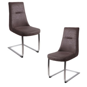 Lot 2 chaises luge - Taupe...