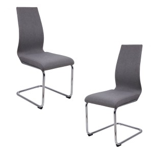 Lot 2 chaises originales - Gris - PEPS