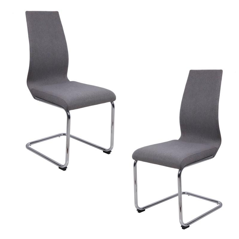 Lot 2 chaises originales - Gris - PEPS