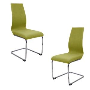 Lot 2 chaises originales - Vert anis - PEPS