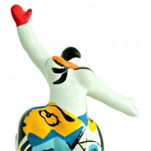 Statue femme figurine blanche danseuse décoration multicolore - style pop art - objet design moderne …
