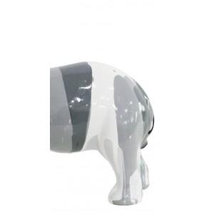 Statue éléphant noir blanc décoration - design moderne contemporain