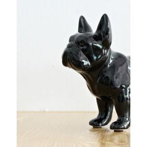 Bulldog chien noir - statue décorative objet design moderne - MAXWELL