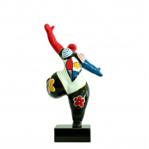 Statue femme figurine danseuse décoration multicolore - style pop art - objet design moderne