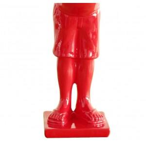 Petit homme rouge figurine décorative objet design moderne